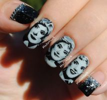 50's / 60's women inspired nail art by MadamLuck