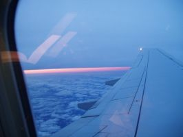 Sunset from 30,000 ft by Avalonshroud