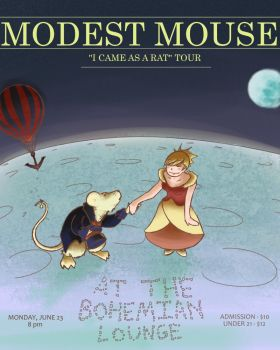 Fake Modest Mouse Tour Poster by odd-hunter
