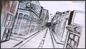How to draw a city in one point perspective 042 by drawingcourse