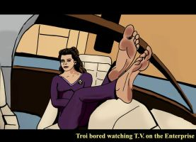 Counselor Troi Bored by Bigfootfantasies