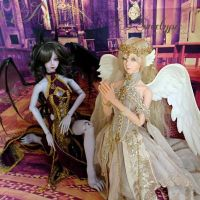 Angel and Demons  Soom Migma and Amphibel by Atelier-Cynamon