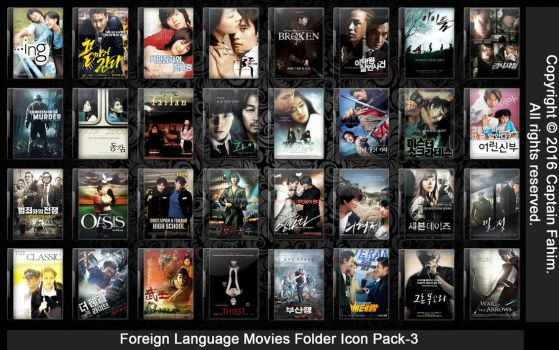 Foreign Language Movies Folder Icon Pack-3 by CaptainFahim