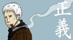 Smoker with Floppy Hair by Duck-san