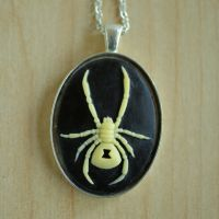 Black Widow Necklace by MonsterBrandCrafts