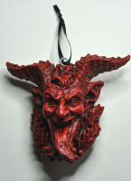 Krampus Head Ornament by DellamorteCo