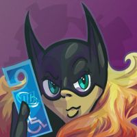 Commission - Batgirl Icon by lastres0rt