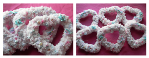 HUGE JUMBO Fuzzy Heart Clip by denimcraze