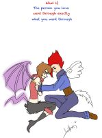 Alpha and Flamey moment by Anjidu
