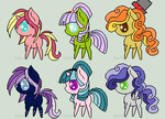 Pony Adopts (1 point each!) by firemoon-niome