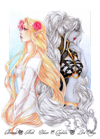 - COMMISSION - Eldaein and Tephelia by ooneithoo