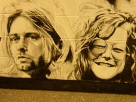 school mural: Kurt and Janis by deadhead16mb