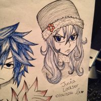 Quick sketch of Juvia by charswarrenxo