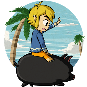 Link's Literal Piggy-Back Ride by Icy-Snowflakes