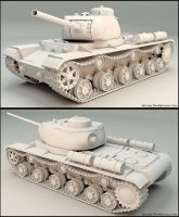 KV-85 Russian Tank by drab1990
