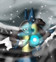 Dragonborn Lucario by Fangy-From-Shadow