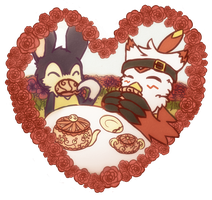 DC - Love Day Heart Exchange - Tea Time by lurils