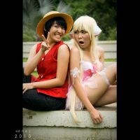 When Luffy meets Chii by Renez