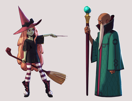 The Witch and the Warlock by Makkon