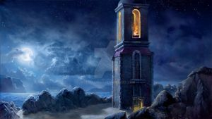 Blue Moon Lighthouse by wolfman007