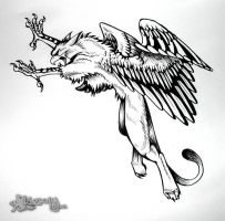 Attacking Gryphon - InkDesign by Lizkay