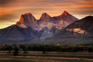 The 3 Sisters, Canmore Alberta by Dianedugas-imagen