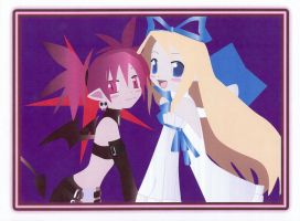 Etna and Flonne Portrait by blacklilly5150