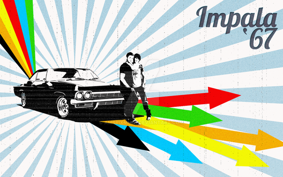 Impala '67 Vintage Wallpape (Version 2) by AmbrixMUSE