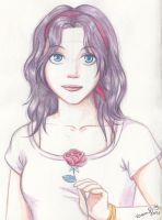 Watercolor Test 2 - Rose by Frog-FrogBR
