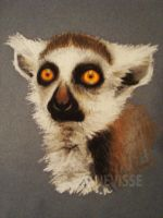 Oil pastel lemur, first try by Nevisse