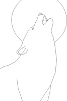 Howling Wolf lineart by Harry-Potter-Addict