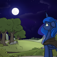 Hunted Luna: Beautiful Night by Poinger