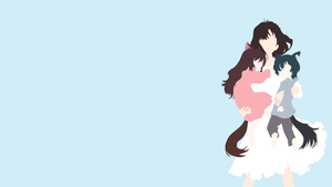 The Wolf Children Ame and Yuki by IllustratedIllusions