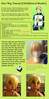 Noiz [DRAMAtical Murder] Wig Tutorial by Noiz-Bleu
