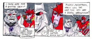 You do have a really bad breath, Lord Megatron... by SnappySnape