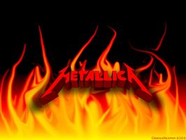 MetallicA -- In Flames by OmegaReaper