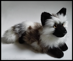 SOLD - Smokey brown fox ~ Small floppy by goiku