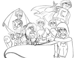 The League - Sketchwork by TwistedArcana