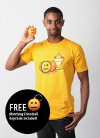 Blank Face Emoticon T-Shirt (Men's) by deviantARTGear