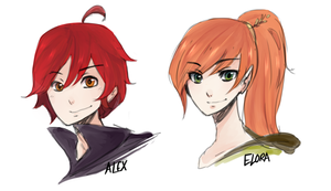 Commission - Elora and Alexandros by faintlaughter