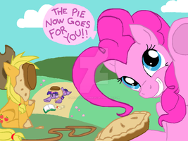 Joke pie with Pinkie Pie by MyLittlePonyMagic