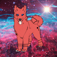 Space Akita Adoptable! by prussianwolf13