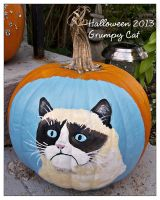 Halloween 2013 - Grumpy Cat Painting by thamuria