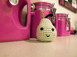 Crocheted Pear Amigurumi by thecraftinista