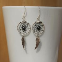 Dreamcatcher Earrings by Wings-On-Fire