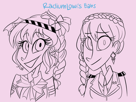 Radiumlowi's Sketch Commissions by VanadiumValor