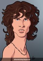 Jim Morrison (Cartoon Caricature) by wilson-santos