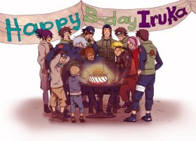 Happy Birthday Iruka by Lei-sam