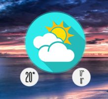Shadow Button Weather HD for xwidget by jimking
