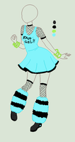 Custom Outfit Adopt - Rave Girl by ShadowInkAdopts